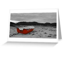 Sanna Cove: The Red Boat Greeting Card