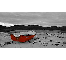 Sanna Cove: The Red Boat Photographic Print
