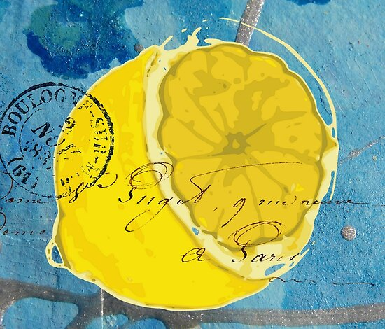 Lemon Mixed Media Digital Art by angelandspot