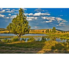 Evening at Blanchard Lake Photographic Print