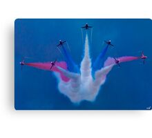 The Red Arrows Perform at Airbourne 2010 Canvas Print