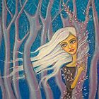 in the blue forest by Alena Khandryka