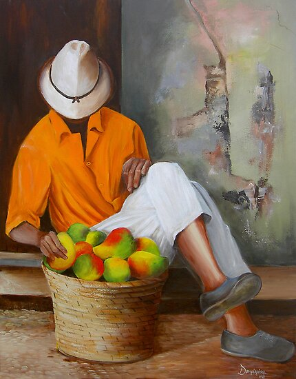 Manuel the Fruit Vendor Resting by Dominica Alcantara