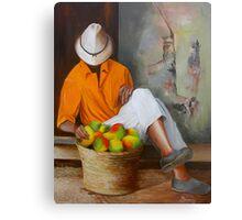 Manuel the Fruit Vendor Resting Canvas Print
