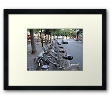 Your Choice of Color As Long As It's Silver Grey Framed Print