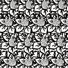 Scratched Flower - Flower Pattern by Courtney Taylor