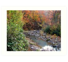 Autumn On Greesy Creek,  Combs  NW Arkansas Art Print