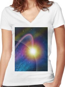 The Scope of Discovery Women's Fitted V-Neck T-Shirt