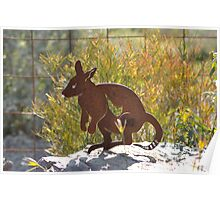 Rusty Wallaby Poster