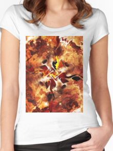 The Four Elements: Fire Women's Fitted Scoop T-Shirt