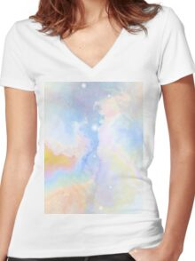 Heaven Awaits Women's Fitted V-Neck T-Shirt