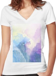 Cloud Age Symphony Women's Fitted V-Neck T-Shirt