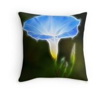 Electrified Morning Glory Throw Pillow