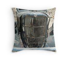 Old Mining Truck Throw Pillow