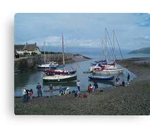 Community Crab Fishing Canvas Print