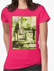 Lime Labyrinth Womens Fitted T-Shirt