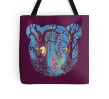 Girl and the bear Tote Bag