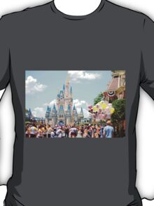 Main Street View of Cinderella Castle T-Shirt