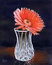 Flower in Crystal Vase by Michael Beckett