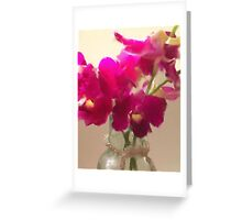 Chrystal and Orchids Greeting Card