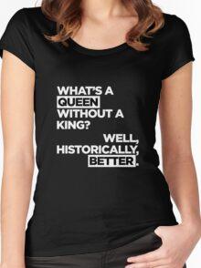 QUEEN. Women's Fitted Scoop T-Shirt