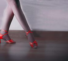 Red dancing shoes by GemaIbarra