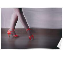 Red dancing shoes Poster