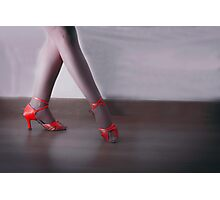 Red dancing shoes Photographic Print