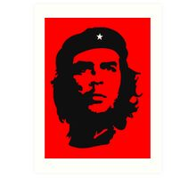 Che Guevara, Revolution, Marxist, Revolutionary, Cuba, Power to the people! Black on Red Art Print