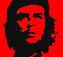 Che, Guevara, Revolution, Marxist, Revolutionary, Cuba, Power to the people! Black on Red by TOM HILL - Designer