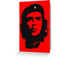 Che, Guevara, Revolution, Marxist, Revolutionary, Cuba, Power to the people! Black on Red Greeting Card