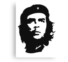 CHE, Che Guevara, Revolution, Marxist, Revolutionary, Cuba, Power to the people! Black on Red Canvas Print