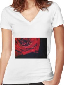 My Heart Is Refusing Me Women's Fitted V-Neck T-Shirt