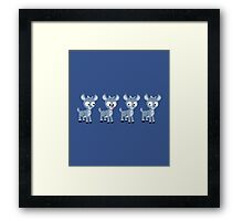 LOOK! It's Rudolph! Framed Print