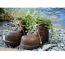 A Giant's Boots Photographic Print