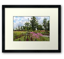 Welcome to the Saxon Garden Show Framed Print