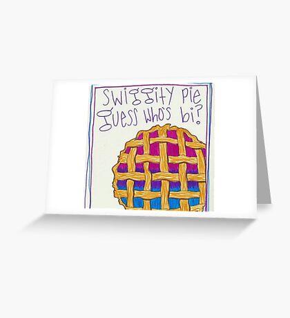 guess who's bi Greeting Card