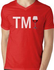 TM Wine (White Ink/Red Wine) Mens V-Neck T-Shirt
