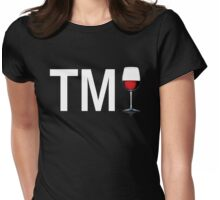 TM Wine (White Ink/Red Wine) Womens Fitted T-Shirt