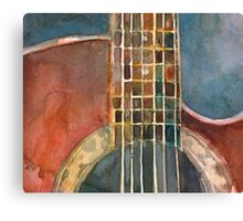 Ovation Acoustic Red Guitar Canvas Print