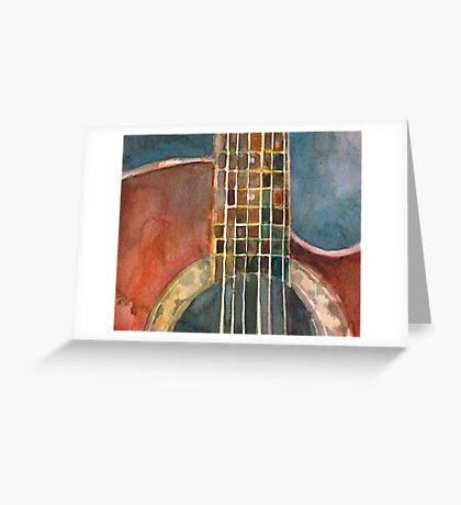 Ovation Acoustic Red Guitar Greeting Card