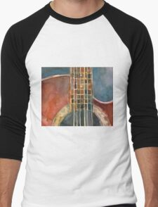 Ovation Acoustic Red Guitar Men's Baseball ¾ T-Shirt