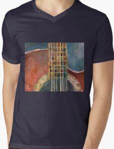 Ovation Acoustic Red Guitar Mens V-Neck T-Shirt
