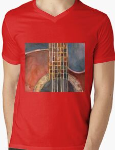 Ovation Acoustic Red Guitar Mens V-Neck T-Shirt