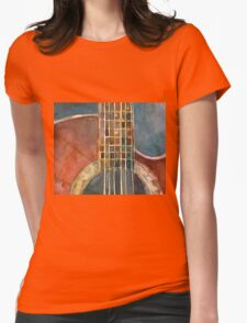 Ovation Acoustic Red Guitar Womens Fitted T-Shirt