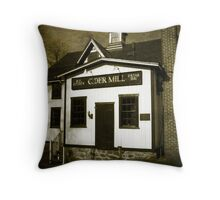 B. F. Clyde's Old Cider Mill Vintage Throw Pillow