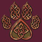 Celtic Knot Pawprint - Red by CGafford