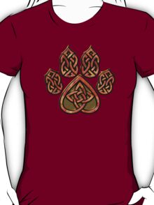 Celtic Knot Pawprint - Red T-Shirt