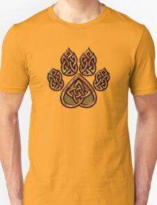 Celtic Knot Pawprint - Red Unisex T-Shirt