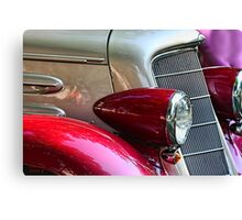 """ Burgandy Bullets "" Canvas Print"